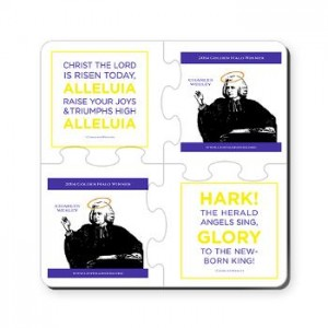 2014 Lent Madness coasters