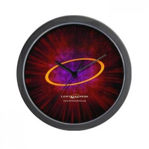 Lent Madness wall clock