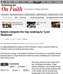 Washington Post Lent Madness
