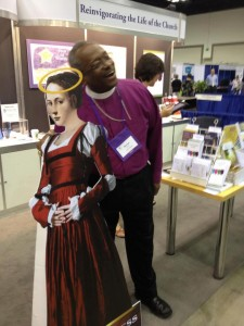 Bishop Michael Curry with 2012 Golden Halo Winner Mary Magdalene