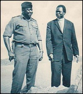 Archbishop Luwum with Idi Amin