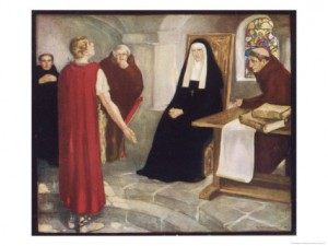 Abbess Hilda receiving Caedmon