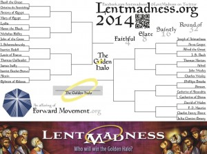 Lent Madness 2014 bracket