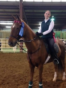 Laurie with Nina, the Official Horse of Lent Madness