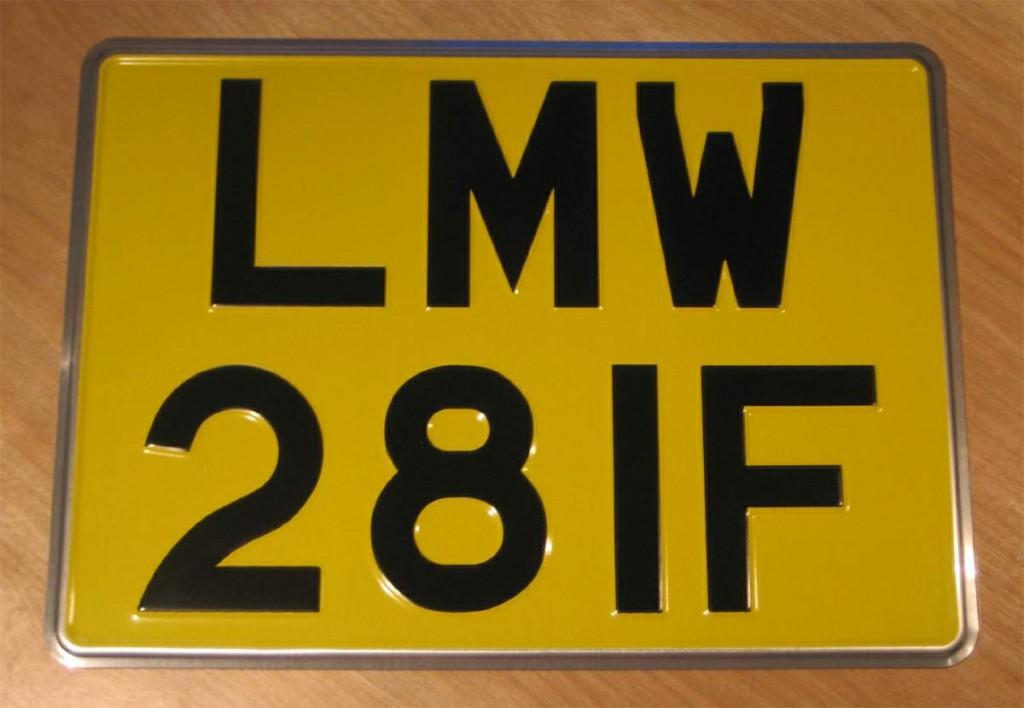 LMW license plate