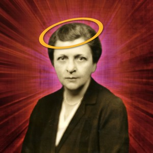 2013 Golden Halo winner Frances Perkins prepares to hand over her halo