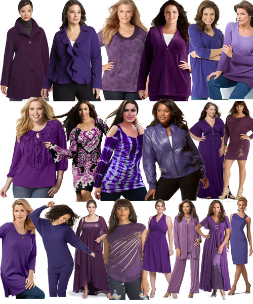 purple clothes