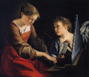 Orazio_Gentileschi_-_Saint_Cecilia_with_an_Angel