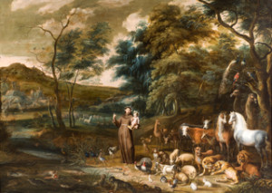 St. Francis with the animals