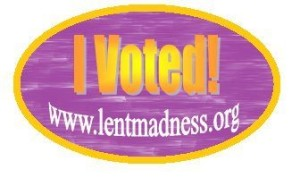 I Voted Lent Madness