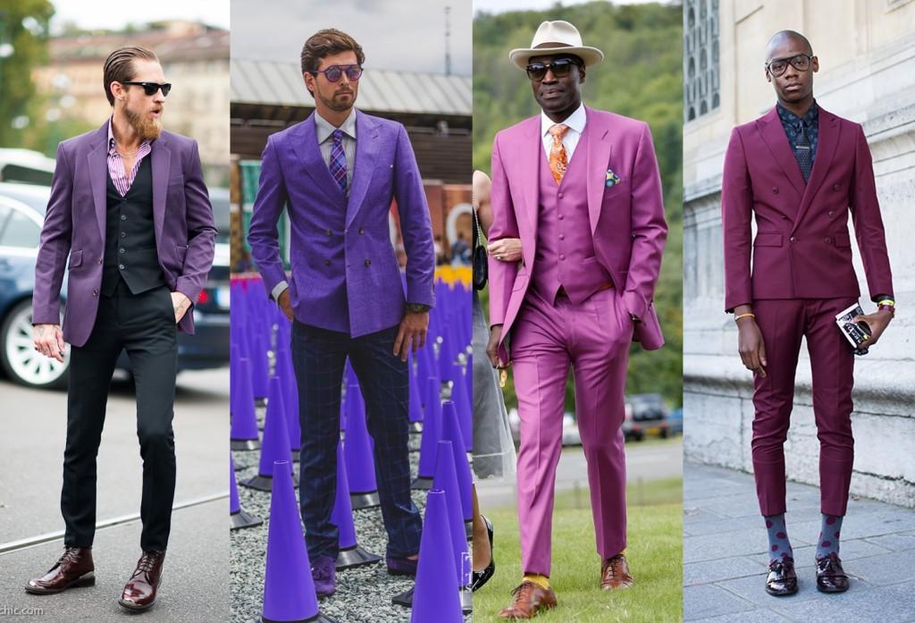 purple suits for men