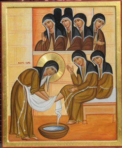 Clare-washing-the-feet-of-the-nuns