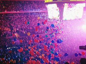 purple balloon drop