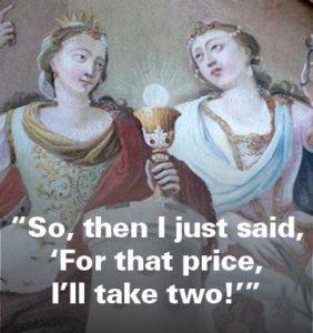 St Barbara on bargains