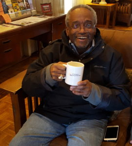 Bishop Curry with mug