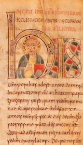 Manuscript depicting St. Augustine