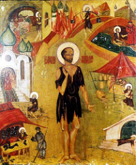 Saint painting