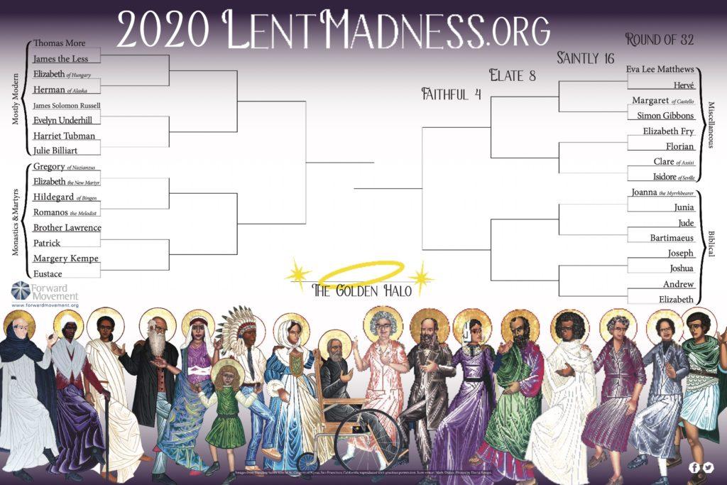 2020 Lent Madness bracket